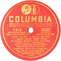 Billie Holiday, I Must Have That Man, Columbia